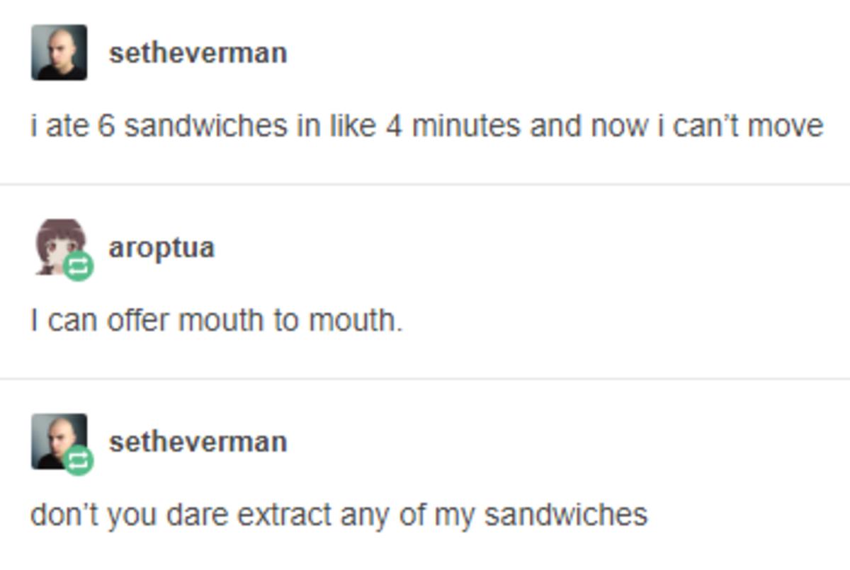 6 Sandwiches. .. ONE PIANO MAN STRIKES AGAIN