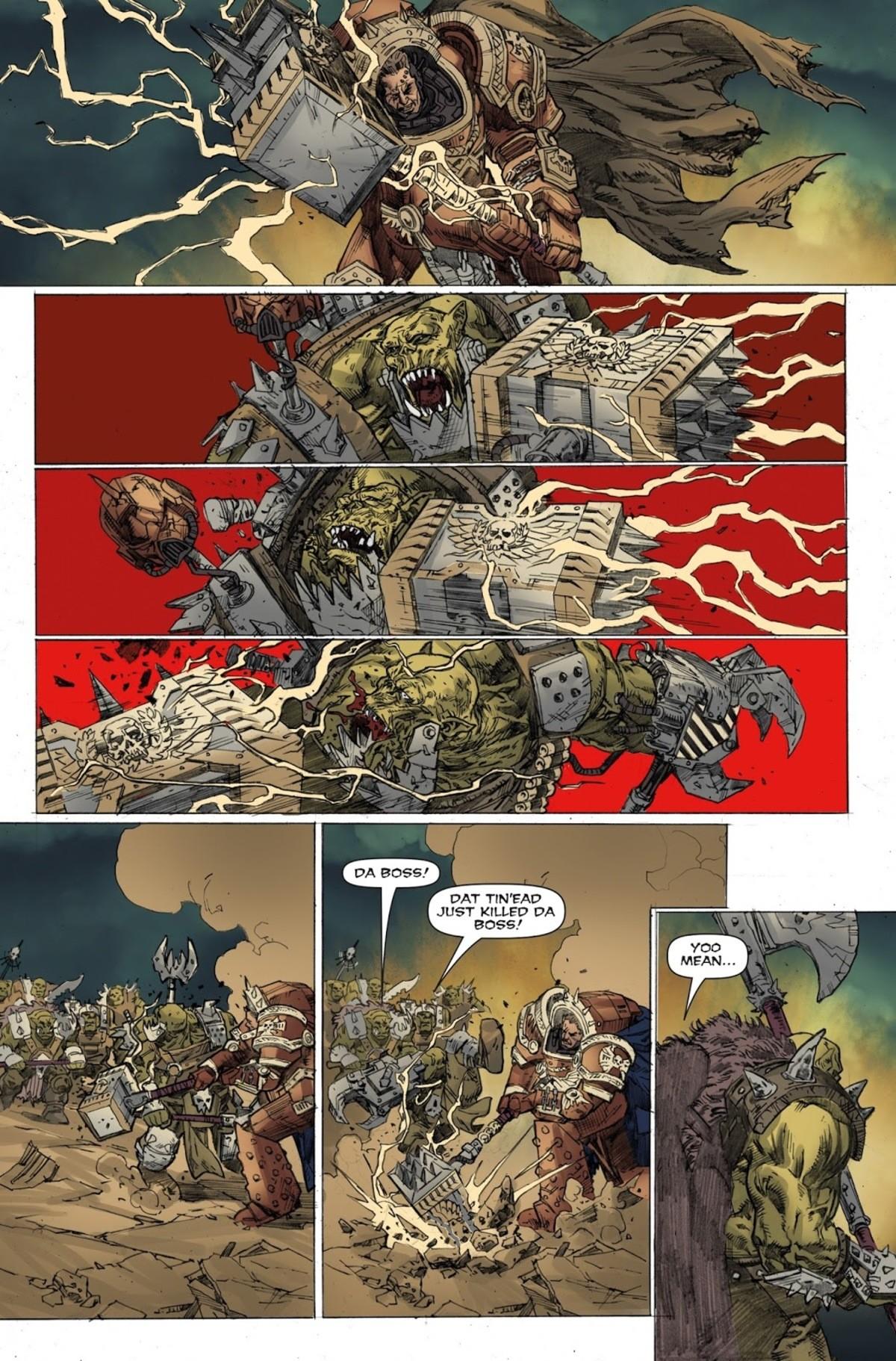 How to fight orks. . DA BOSS.' DAT Tln' EAD JUST KILLED DA. Bonus page: How to fight eldar