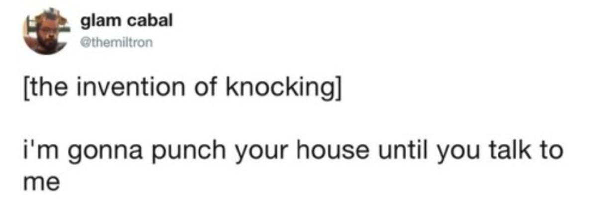 Knocking on doors. .