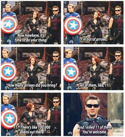 """ing Hawkeye. He's right you know.... iria"""" uti. 1.. Original Hawkeye"""