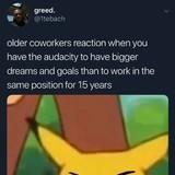 Older coworkers